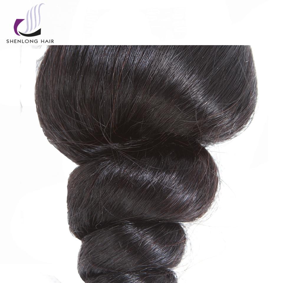SHENLONG Μαλλιά Loose Wave Περουβιανά Μη Ρέμι - Ανθρώπινα μαλλιά (για μαύρο) - Φωτογραφία 5