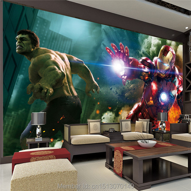 Buy the avengers wall mural iron man for X men room decorations