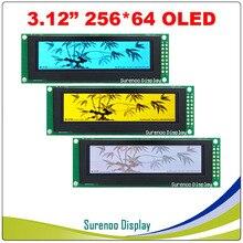 """Gerçek OLED Ekran, 3.12 """"256*64 25664 Nokta grafik lcd modülü Ekran LCM Ekran SSD1322 Denetleyici Desteği SPI"""