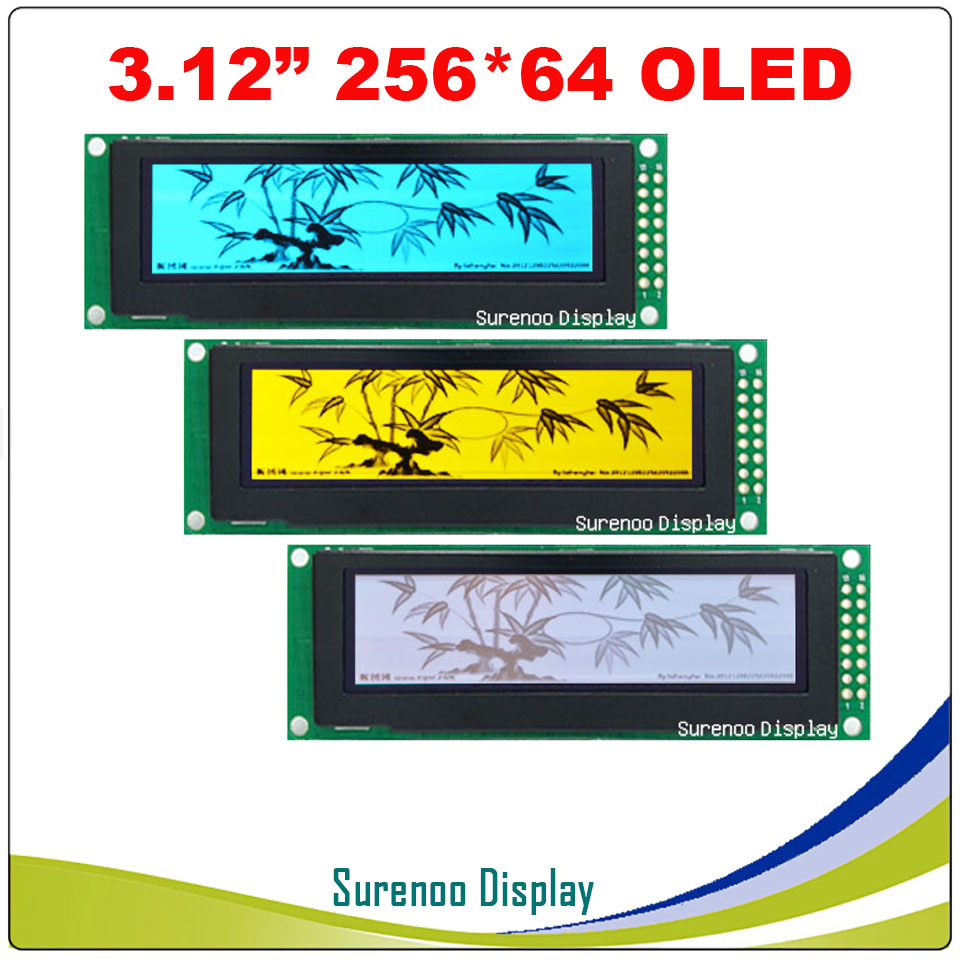 Real OLED Display, 3.12 256*64 25664 Dots Graphic LCD Module Display Screen LCM Screen SSD1322 Controller Support SPIReal OLED Display, 3.12 256*64 25664 Dots Graphic LCD Module Display Screen LCM Screen SSD1322 Controller Support SPI