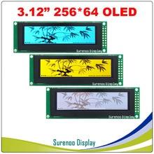 "Tela oled real, tela de lcd 3.12 ""256*64 25664 pontos, tela lcm de display de lcd controlador ssd1322 spi"