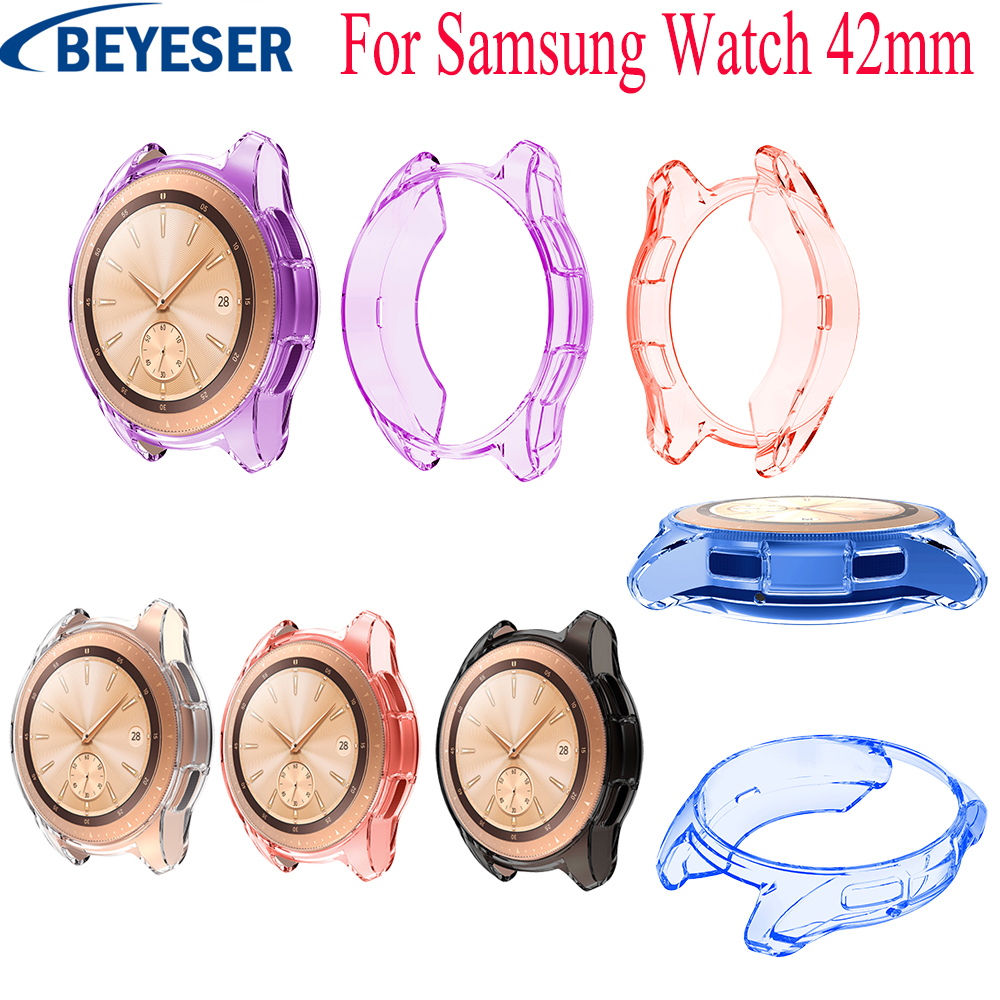 Tpu Protective Case Cover Shell For Samsung Galaxy Watch 42mm Smart Watch Accessories Frame Cases Protective Galaxy Watch 42mm
