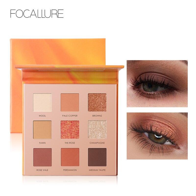 FOCALLURE 2019 New Green Eyeshadow palette easy to wear high quality eye shadow powder Shimmer eyeshadow pallete Eyes makeup in Eye Shadow from Beauty Health