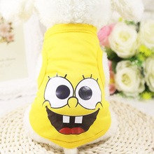 Dog-Vest Shirt Jersey Small-Dog Summer Cartoon for Cats Breathable Casual