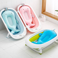 NewBorn Whale Shape Seat Support Baby Shower Portable Air Cushion Bed Infant Bath Pad Non Slip Bathtub Mat