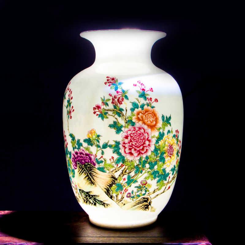 High-quality Chinese Jingdezhen Fine Porcelain Flower Vase Gold Painting Antique Ceramic Art Decor Vase For Home Office