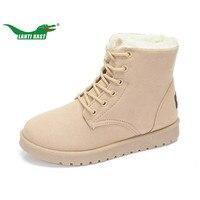 LANTI KAST Outdoor Women Sneakers Winter Popular Fur High Top Boots For Women Durable Non Slip