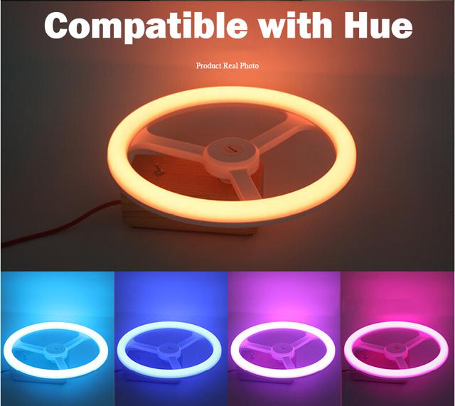 RGB-Cuidado de los Ojos LED Compatible con Tono 1.0 y 2.0 puente lámpara inteligente app control by inalámbrico/remoto táctil de apoyo Control
