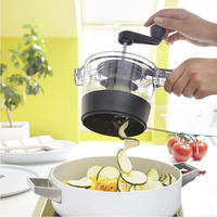 4 In 1 Adjustable Spiral Slicer Grater Fruit Vegetable Cutter Shredder Rotary Cutting Machine Kitchen Accessories