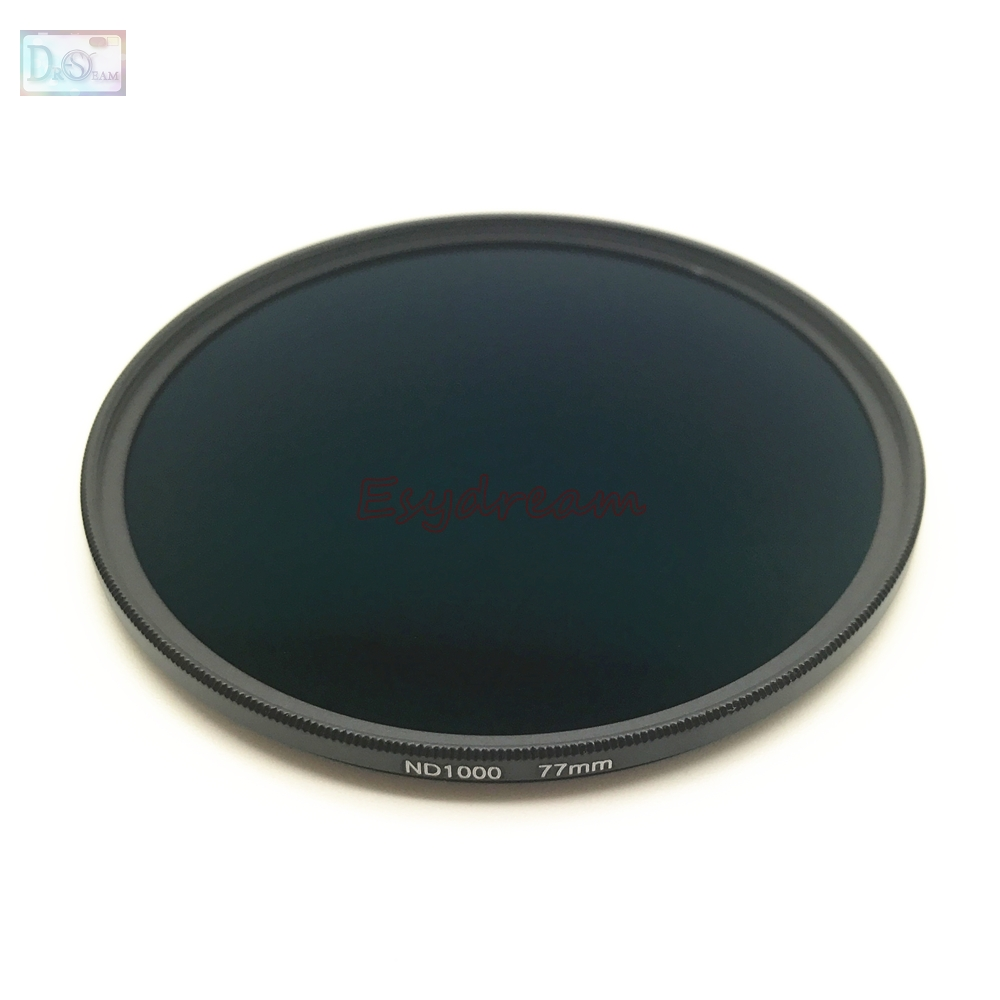 67 72 77 82 mm Neutral Density ND1000 ND 1000 Optical Glass Lens Filter for Canon Nikon Sony Pentax Olympus Camera Lenses