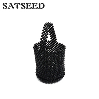 2019 Euramerican Resin Water Drill Pearl Bucket Bag Fashion Dinner Lady Bag Shoulder Cross Body