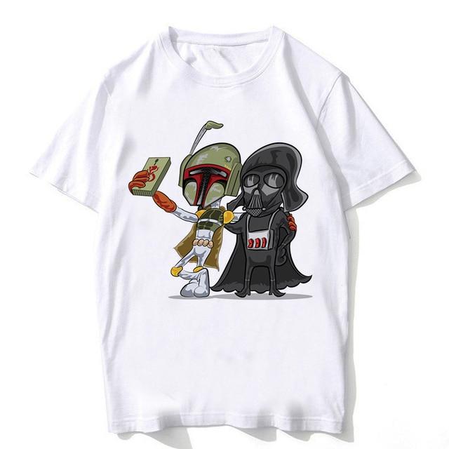 e0d00074f Star Wars T Shirt Men Cool Tee Tops star wars t shirt funny Movie t-shirt  robot shirt Darth Vader star wars tshirt tops