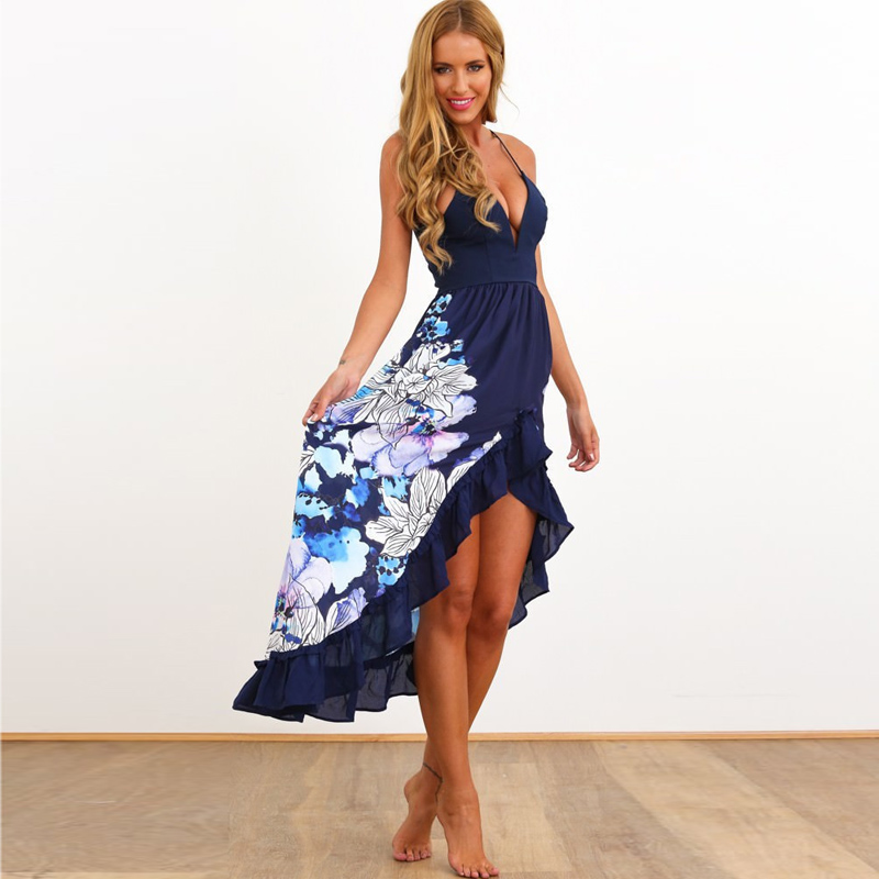 Beach dress vestidos 2016 summer style sun dresses women for Wedding guest dresses for middle aged