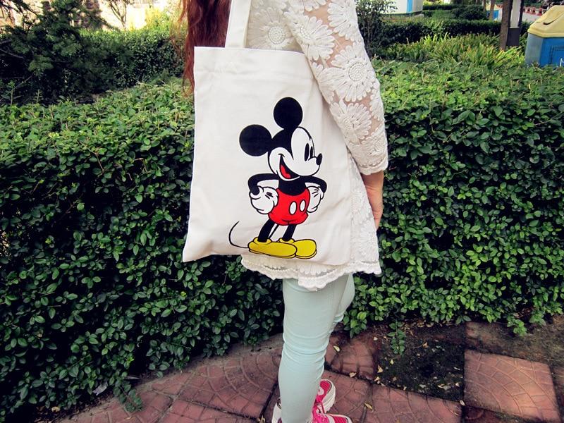 ديزني ميكي حقيبة قماش قنب الأخضر حقيبة تسوق حقيبة يد حقيبة كتف صغيرة جديدة الكرتون الأزياء crossbody حقائب للنساء