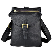 Vintage Echtem Leder Casual Reisetasche männer Schulter Messenger Bags Taille Gürteltasche D Schnalle Haken Schultertasche Multi funktionen