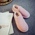 2016 Novas Botas de Neve Mulheres Sapatos Boca Rasa Baixo Topo Flats Casual Up Adicionar Lã Dentro de Botas Curtas Botas de Inverno Quente sapatos