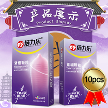 10pcs/set 49mm Tight Condoms Large Particle G-spot Stimulation Penis Sleeve Big Dotted Lasting  Sex Products Toy For Men