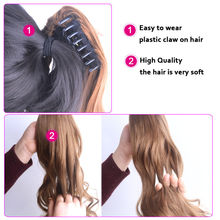 Synthetic Clip in Pony Tail Hair Extensions Black Brown Blonde
