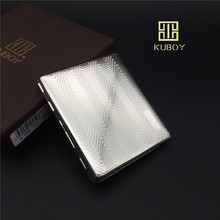 KUBOY KC6-06 Mordern quality stainless steel cigarette case embossing process