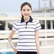 Women Shirts Cotton Polos 5 Styles Striped Fitting Weight 40-88KG Breathable Eco-Friendly Drop Shipping