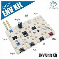 M5Stack nuevo Kit de unidad ENV que incluye 8 sensores DHT12 humedad olla PIR HUB luz RGB IR ENV IoT Placa de desarrollo GROVE Puerto I2C