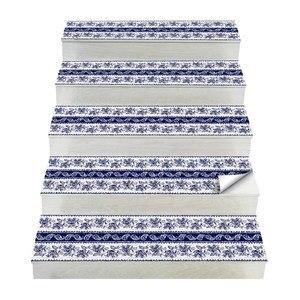 Image 1 - Chaude 2 pièces Style bohême escalier autocollants, PVC bricolage autocollant de sol, Stickers muraux pour la décoration de la maison salle de bain et cuisine
