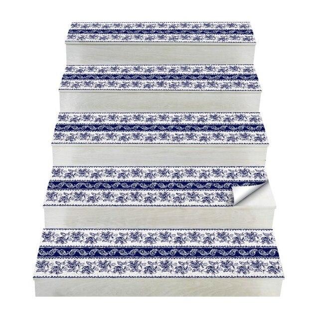 Chaude 2 pièces Style bohême escalier autocollants, PVC bricolage autocollant de sol, Stickers muraux pour la décoration de la maison salle de bain et cuisine