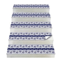 Hot 2Pcs Bohemia Style Stair Stickers,  PVC Diy Floor Sticker, Wall Stickers For Home Decoration Bathroom & Kitchen