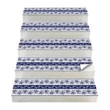 Pegatinas de escalera de estilo bohemio de 2 uds, pegatinas de suelo Diy de PVC, pegatinas de pared para la decoración del hogar baño y cocina