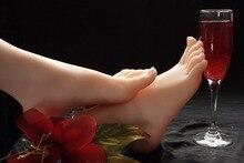 size 37 silicone fake women legs Foot Fetish silk stocking fetish feet worship Adult Model t37drop shipping shipping