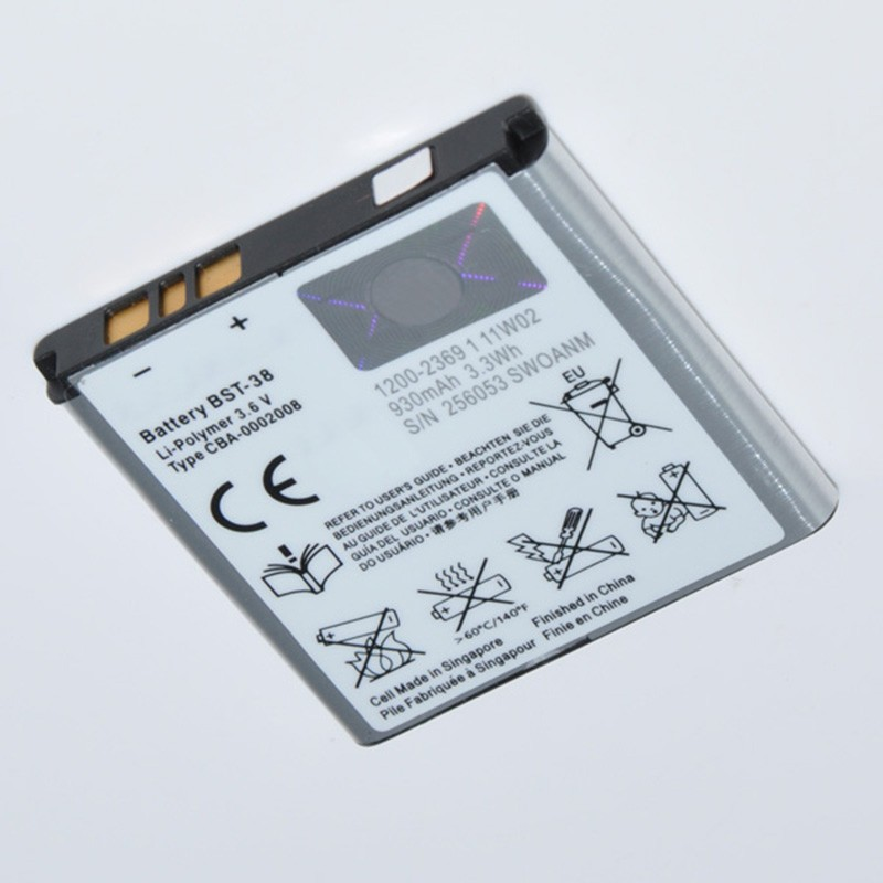 100% new original oem replacement battery bst 38 for sony ericsson.