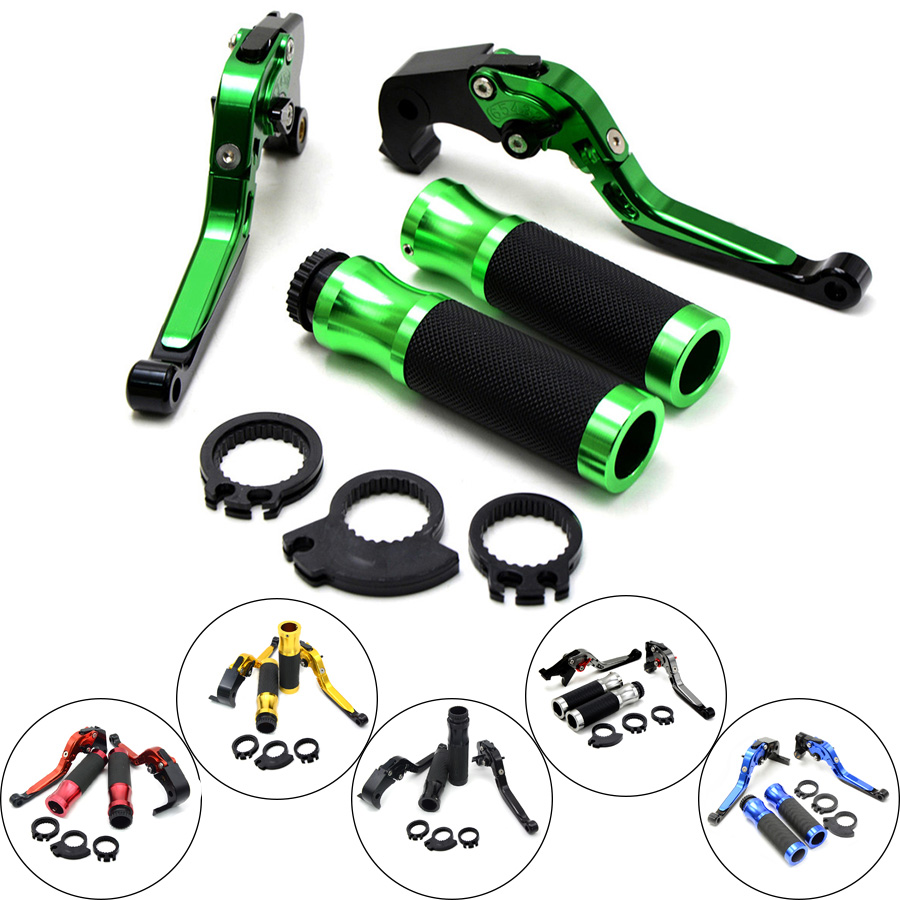 Motorcycle Brakes Clutch Levers Adjustable Folding Extendable & handlebar handle bar For KAWASAKI ZX6R 636 2007 - 2014 2015 2016 for kawasaki z750 2007 2017 motorcycle brakes clutch levers