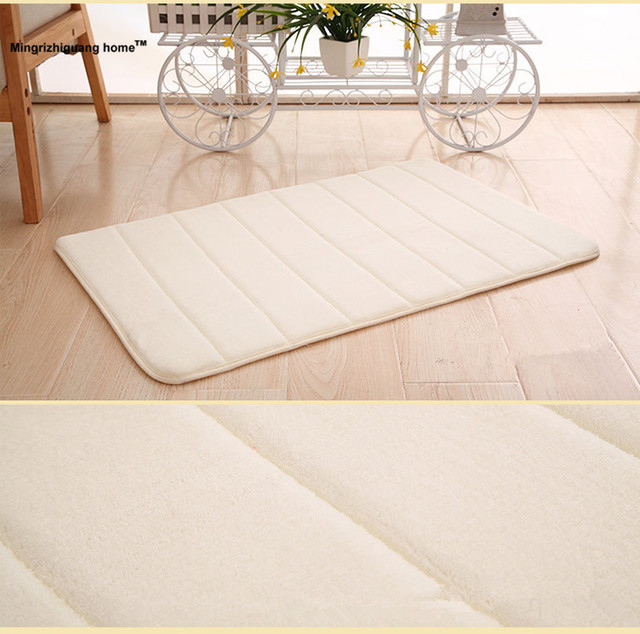 1pc Bathroom Products Memory Foam Mats Horizontal Stripes Rug Non Slip Home Bedroom Carpet