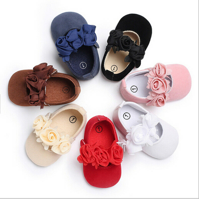 CANIS Newborn To 18M Infants Baby Girl Lovely Flower Soft Crib Shoes Moccasin Prewalker Sole Shoes High Quality