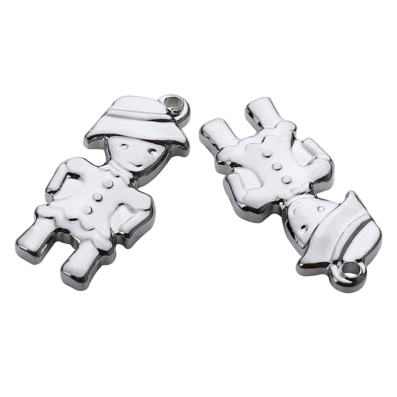 10pcs/lot Stainless Steel Soldier Floating Charms Pendants 9*20mm Silver Tone Metal Charms For Necklace Jewelry Making F3923