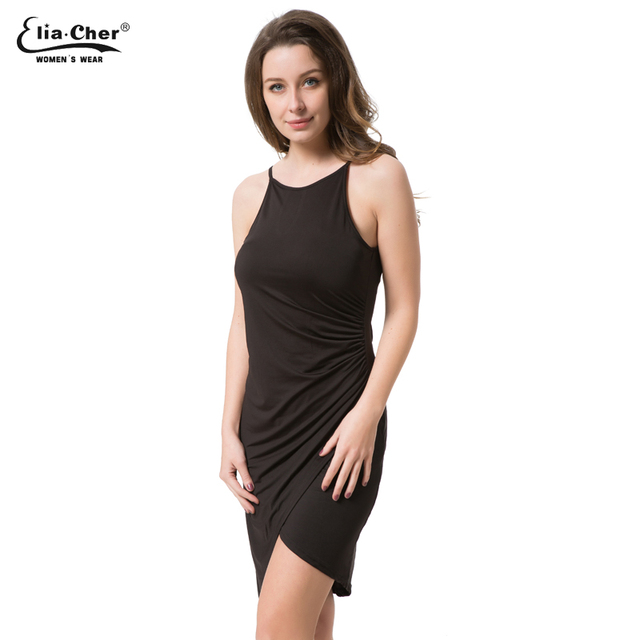 Women Dress 2017 New summer dresses casual women Clothing sexy and Solid Tank dresses Plus Size 6070