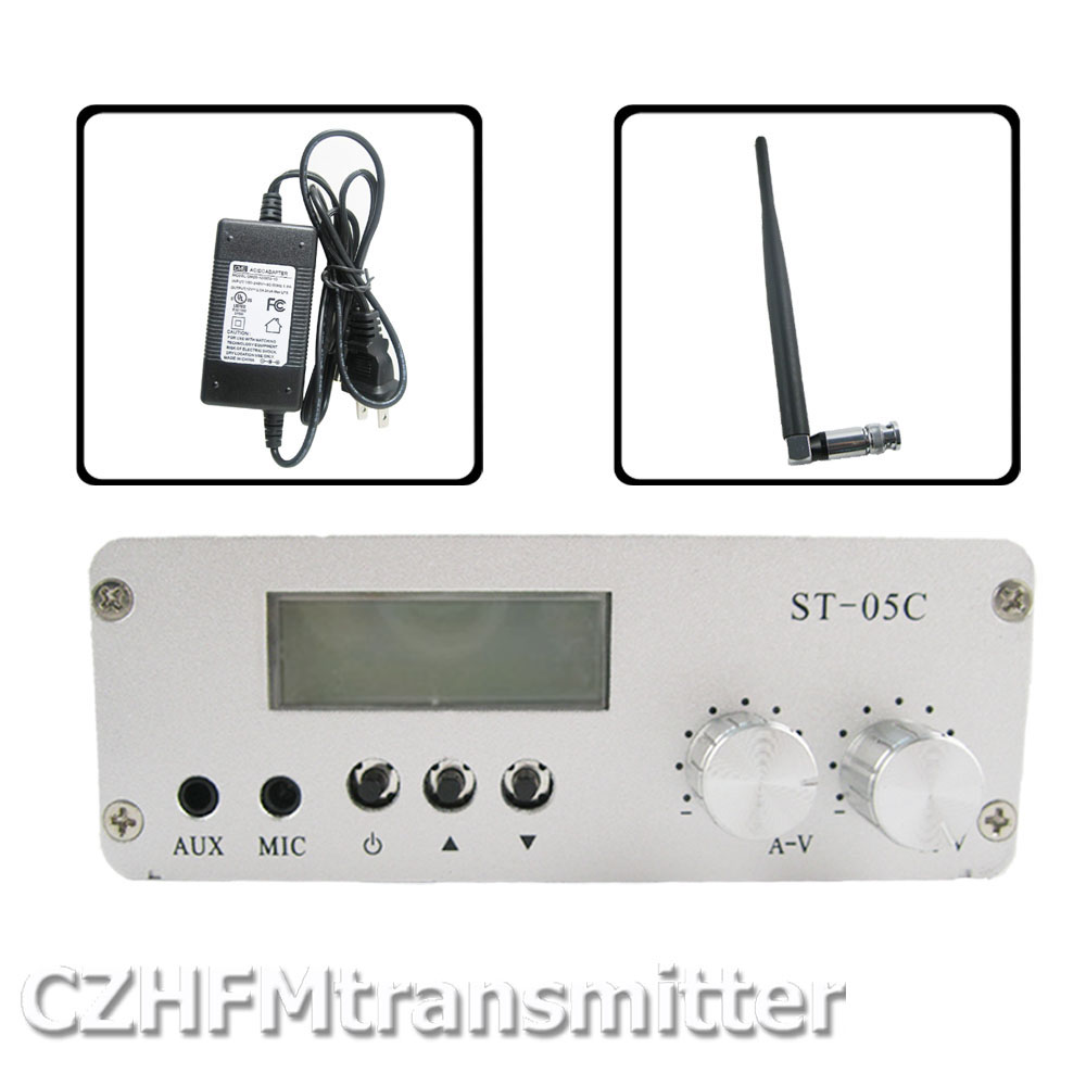 St 05c 01w 05w Home Fm Broadcast Transmitter Stereo Pll Receiver Radio Antenna Ps Kit