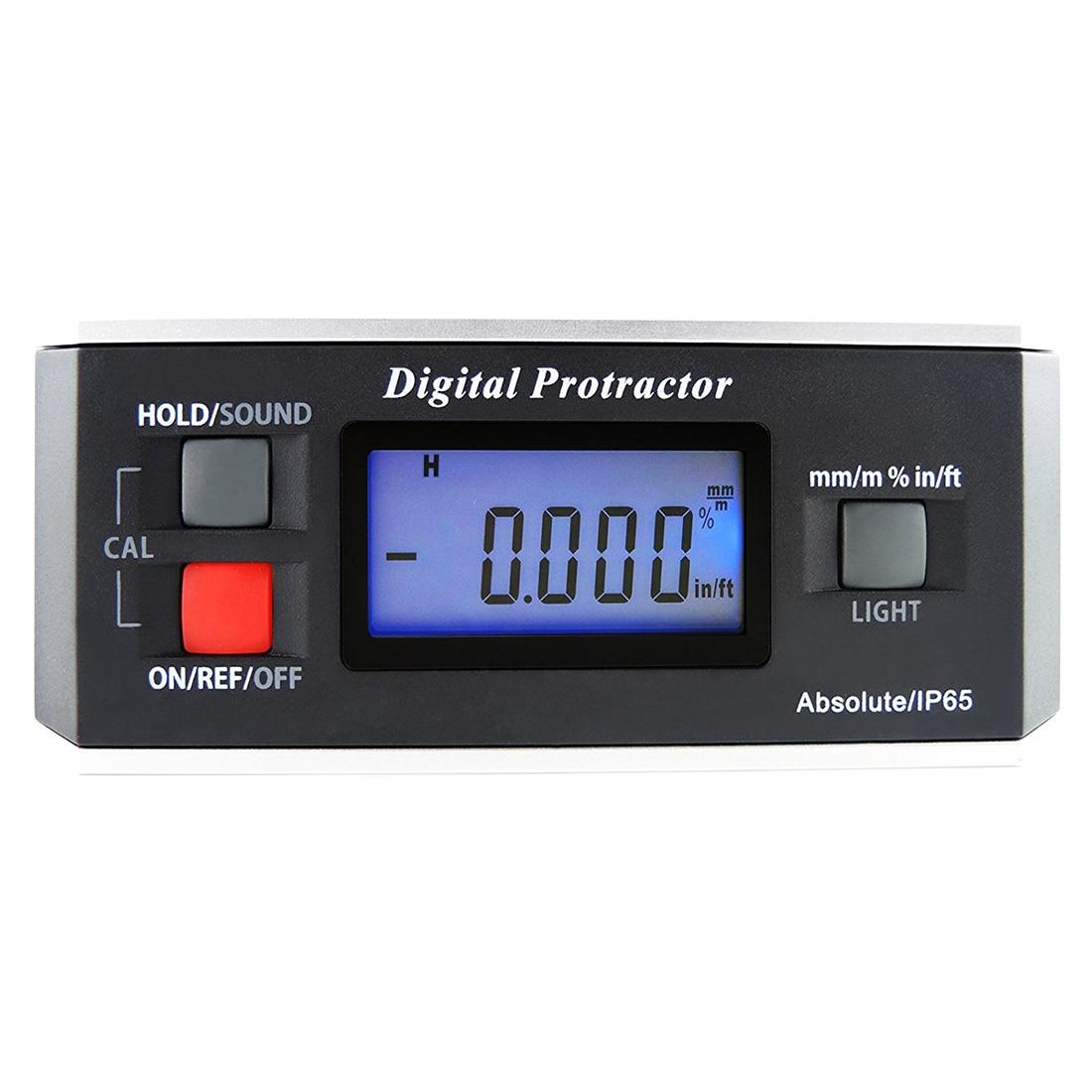Mini Digital Inclinometer,360 degree Mini Digital Protractor Inclinometer Angle Meter with Base