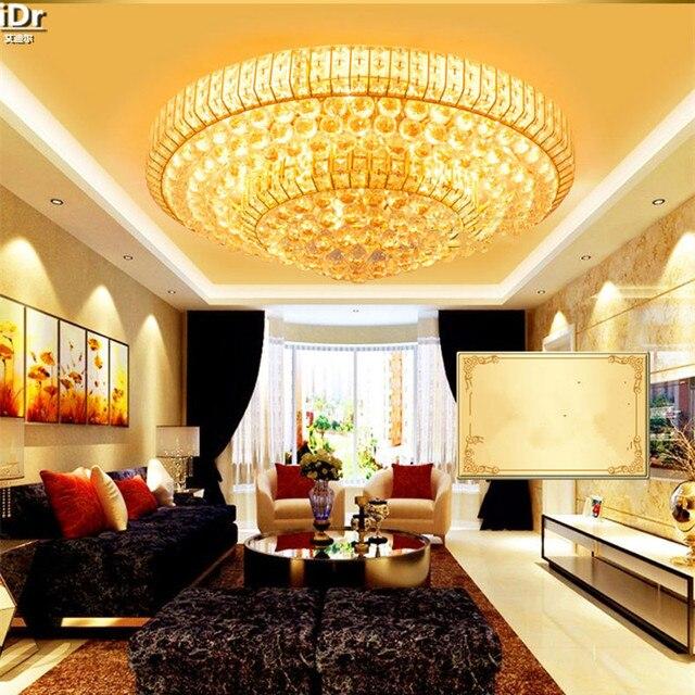 Gold Runde Kristall Lampe Moderne Europa Wohnzimmer Lampen