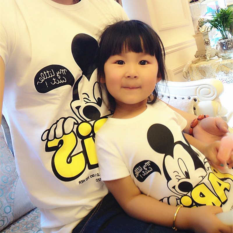Dropship Matching Household Style 2019 Summer time Mom And Daughter Garments Tops Mickey Household Matching Outfit Mommy And Me Outfits Matching Household Outfits, Low cost Matching Household Outfits, Dropship...