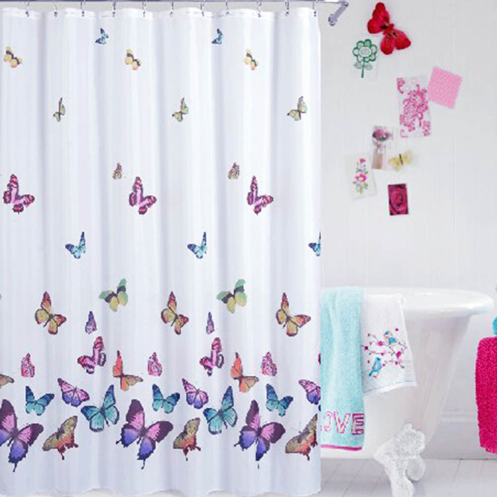 Purple butterfly curtains - Download Purple Butterfly Shower Curtain