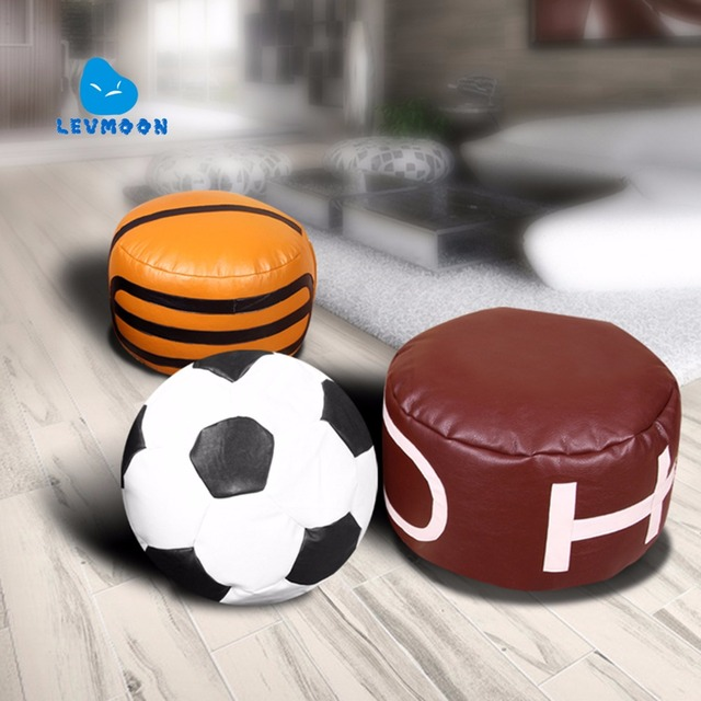 LEVMOON Beanbag Sofa Chair ball  Seat Zac Comfort Bean Bag Bed Cover Without Filling  Just Shell  Rugby beanbags