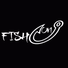 SLIVERYSEA 18*7CM Fishing Hook Fisherman Fish Hobby for Men Vinyl Car Window Sticker Decals Black Silver