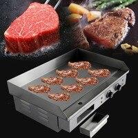 (Корабль из Германии) 4400 Вт Электрический сковородка Chop Hot Plate 73 см коммерческих столешницы Grillplatte барбекю ЕС Plug