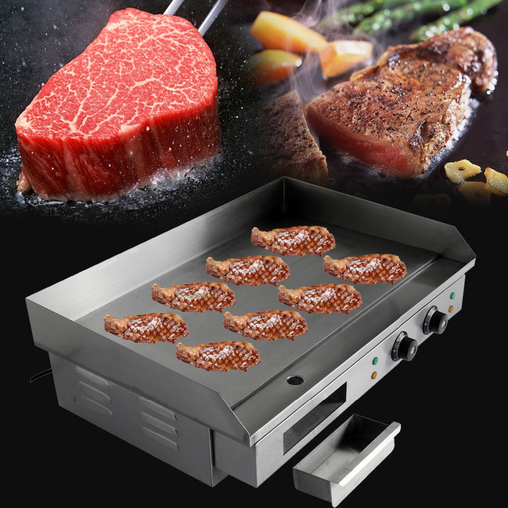 цена на (Ship from Germany) 4400W Electric Griddle Chop Hot Plate 73cm Commercial Countertop Grillplatte BBQ EU Plug