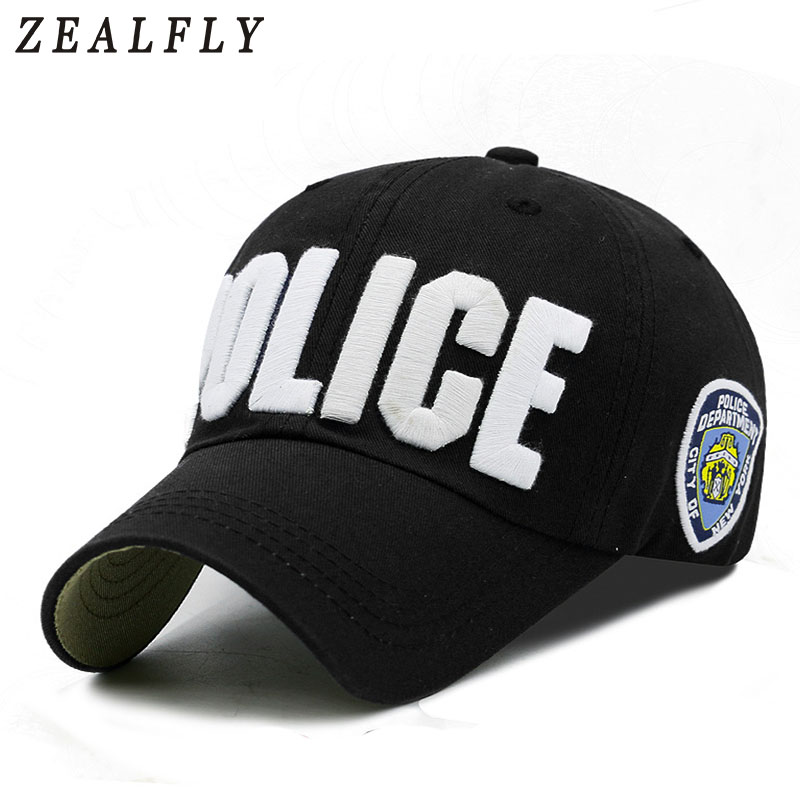 Adult And Child Police Baseball Cap 100% Cotton Embroidery Letter Women Cap Outdoor Casual Girl Boys Snapback Hat