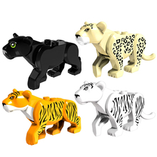 5Pcs Mini Dolls Prince of Persia Jungle Adventure Series Black Leopard White Tiger Camel Building Blocks