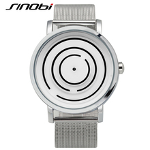 SINOBI Top Marque De Luxe Montre Homme En Acier Inoxydable Maille Bracelet Relojes Hombre 2016 Mode Relogio Masculino Casual Labyrinthe style