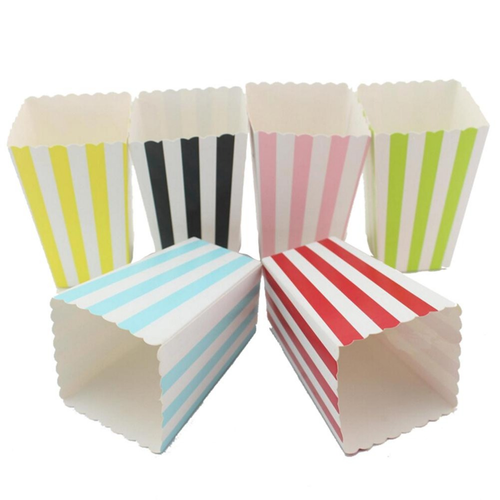 Colorful Mini Party Paper Popcorn Boxes Candy Favor Bags Wedding ...