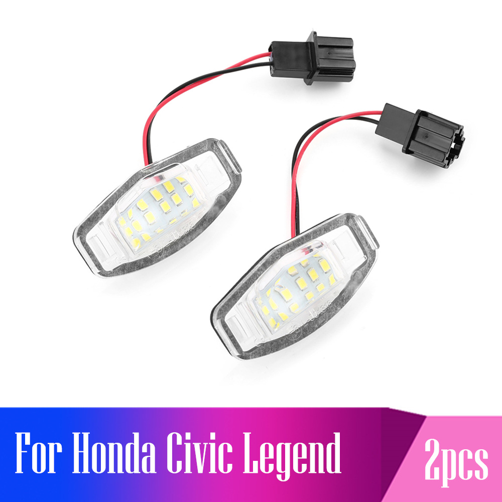 2pcs License Plate Canbus Error Free White LED Number License Plate Light 18 LED Bulbs For <font><b>Honda</b></font> <font><b>Accord</b></font> Civic Acura RL TSX RDX image
